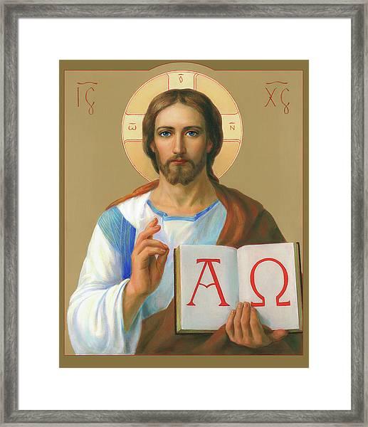 Jesus Christ - Alpha And Omega Framed Print by Svitozar Nenyuk