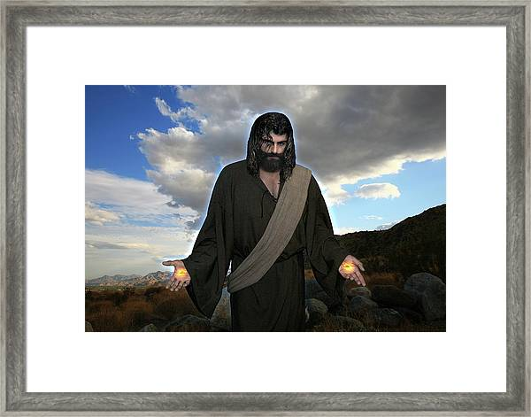 Jesus Christ- And He Withdrew Himself Into The Wilderness And Prayed Framed Print