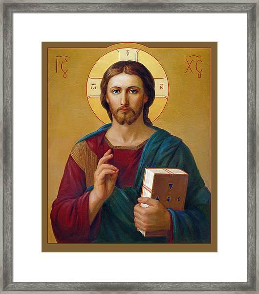 Jesus Christ Pantocrator Framed Print