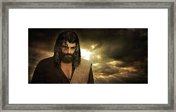 Jesus Christ- Will You Hear Me Shout Come Up Framed Print