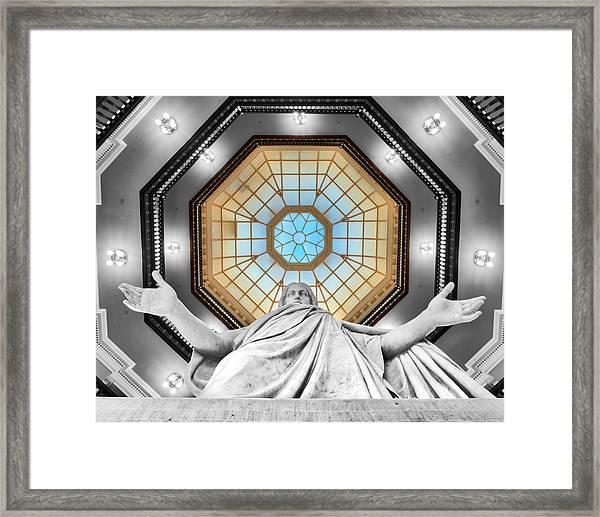 Jesus Halo Framed Print