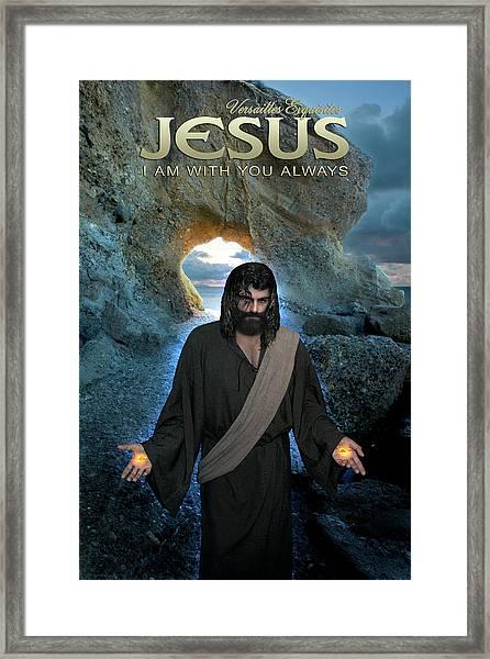 Jesus- I Am With You Always Framed Print