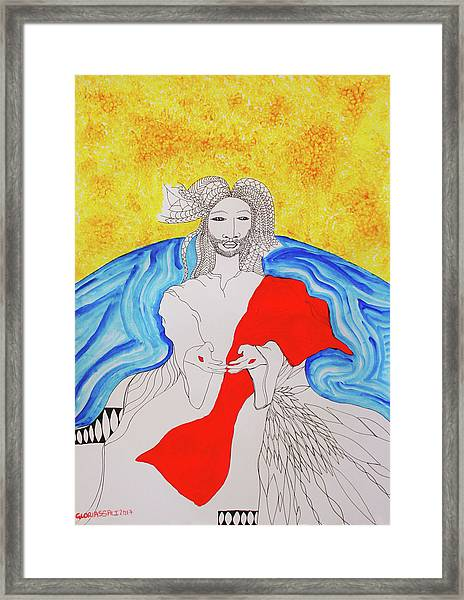 Jesus Messiah Second Coming Framed Print
