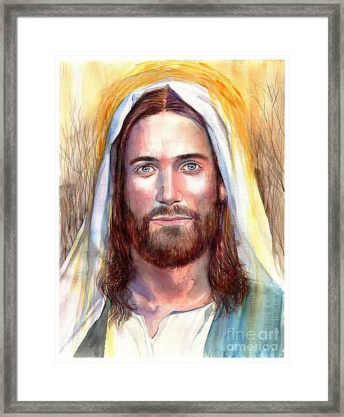 Jesus Of Nazareth Painting Framed Print