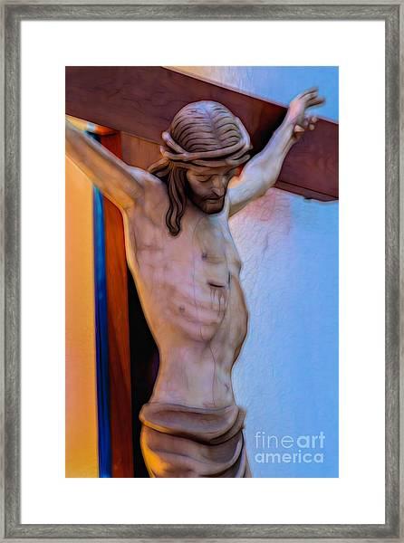 Jesus On The Cross Framed Print