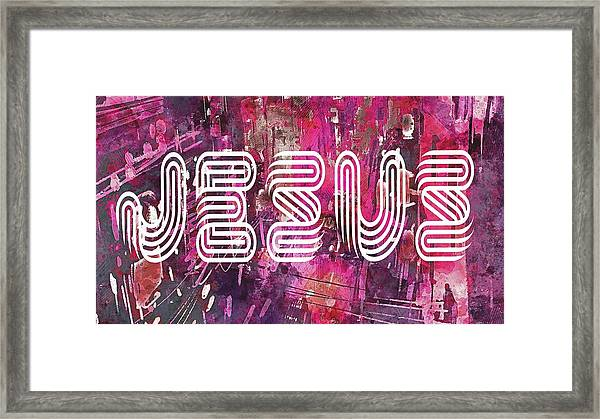 Jesus Street Framed Print