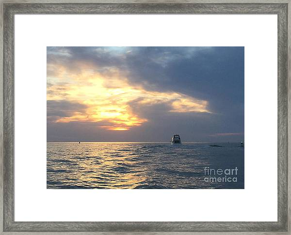 Watching Over The Inlet Framed Print