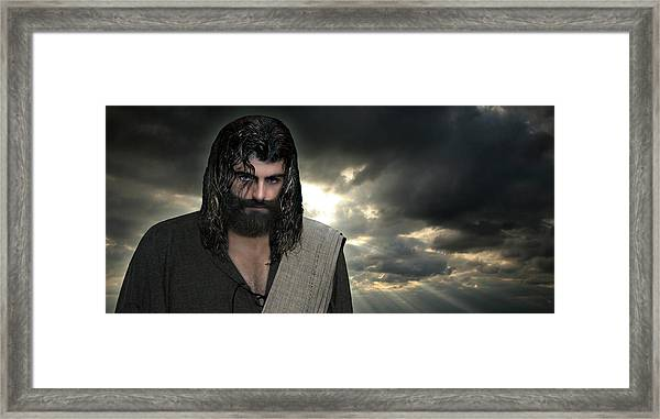 Jesus- Will You Hear Me Shout Come Up Framed Print