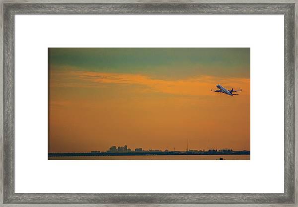 Jet Orange Framed Print by Jessica Graham