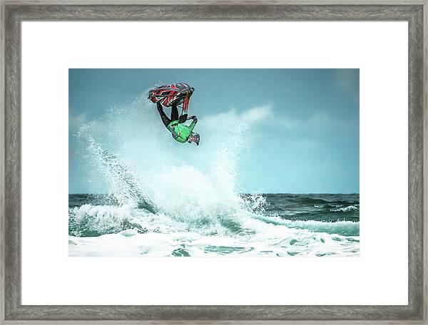 Jet-ski Stunt Framed Print