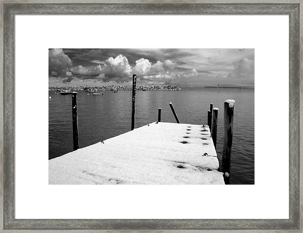 Jetty, Rhos-on-sea Framed Print