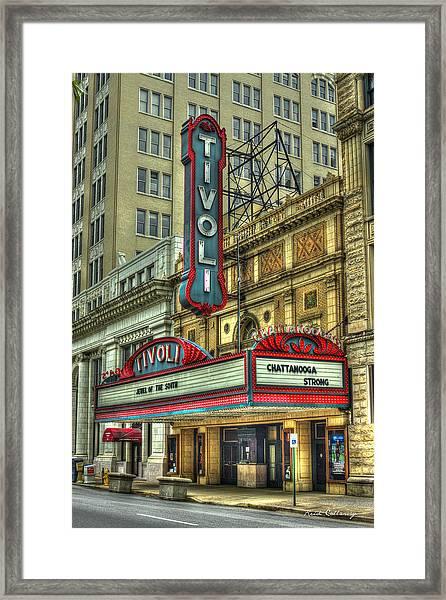 Jewel Of The South Tivoli Chattanooga Historic Theater Art Framed Print