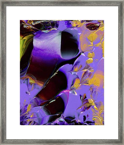 Jeweled Amethyst Framed Print