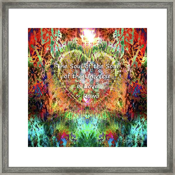 Framed Print featuring the digital art Soul Of The Soul by Atousa Raissyan