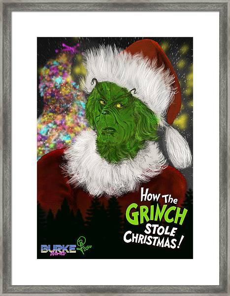 Jim Carrey's Grinch Framed Print by Joseph Burke