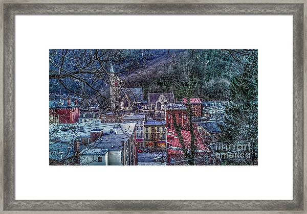 Jim Thorpe Pennsylvania In Winter #1 Framed Print