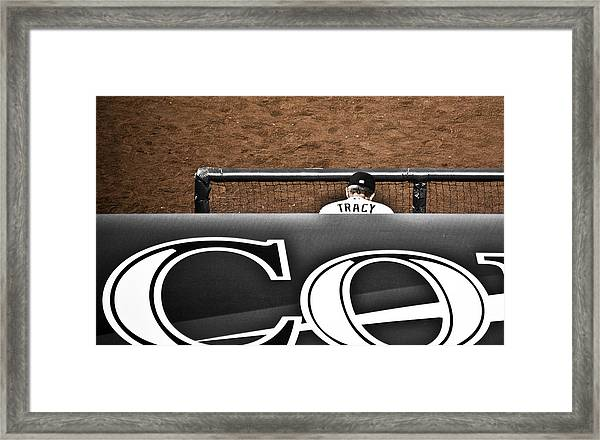 Jim Tracy Rockies Manager Framed Print