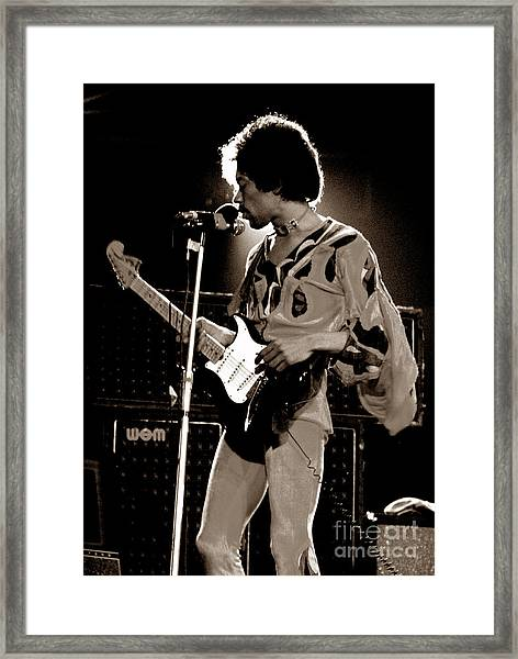 Jimi Hendix Isle Of Wight 3 Framed Print