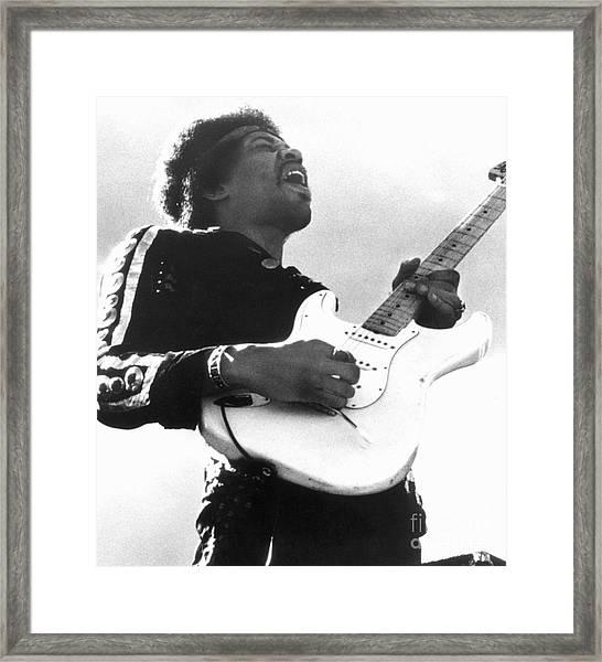 Jimi Hendrix (1942-1970) Framed Print