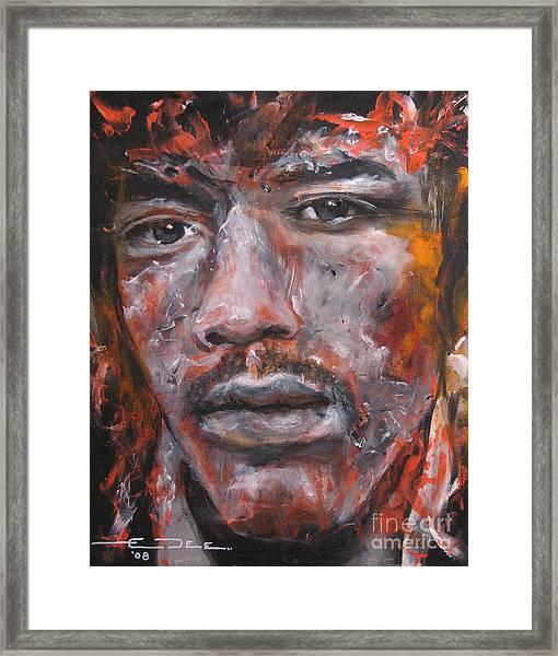 Jimi Hendrix Manic Depression Framed Print