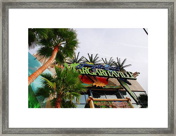 Jimmy Buffets Margaritaville In Las Vegas Framed Print