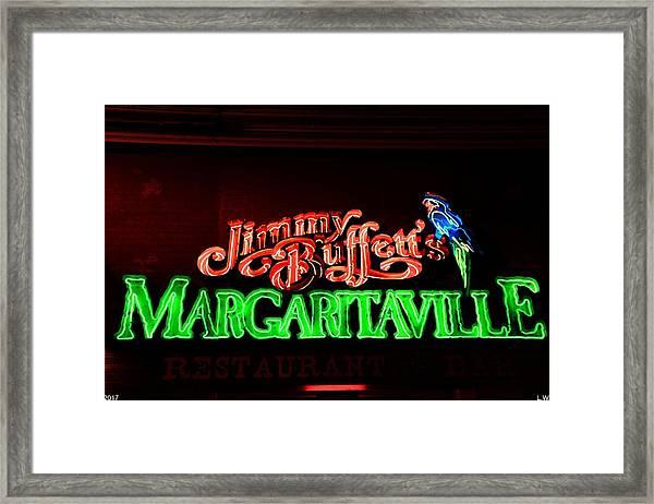 Jimmy Buffett's Margaritaville Framed Print