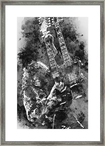 Jimmy Page - 02 Framed Print