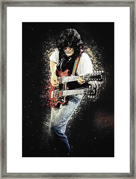 Jimmy Page II Framed Print