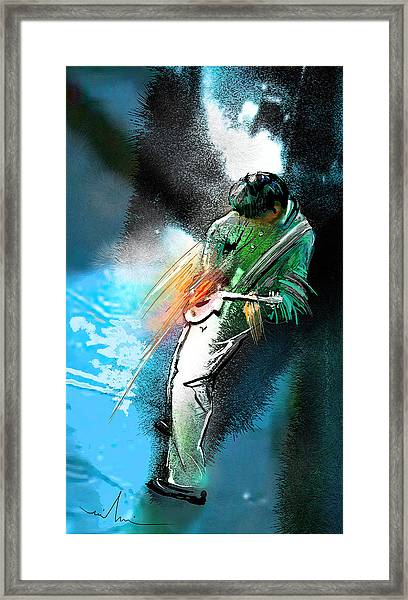Jimmy Page Lost In Music Framed Print