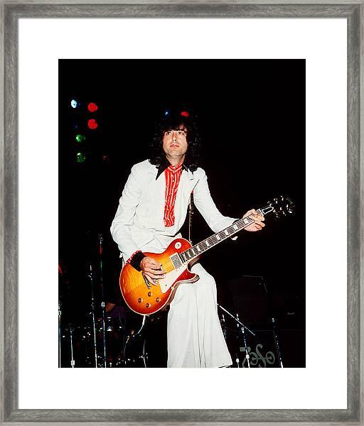 Jimmy Page Of Led Zeppelin Framed Print