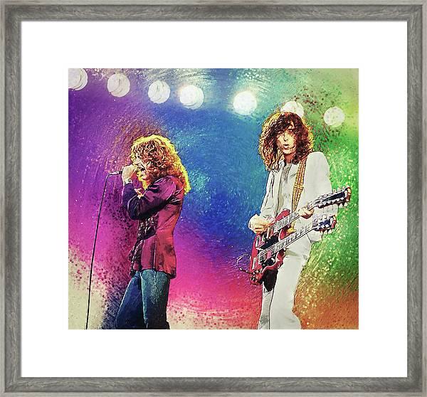 Jimmy Page - Robert Plant Framed Print