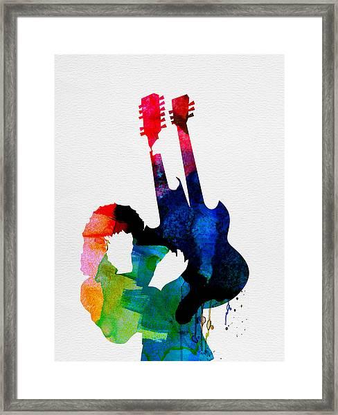 Jimmy Watercolor Framed Print