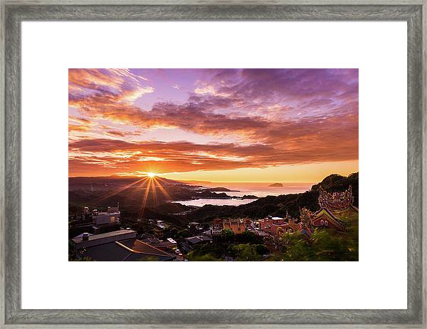 Jiufen Sunset Framed Print