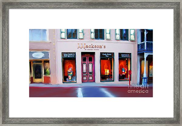 J.j. Jackson's Nevada City Framed Print