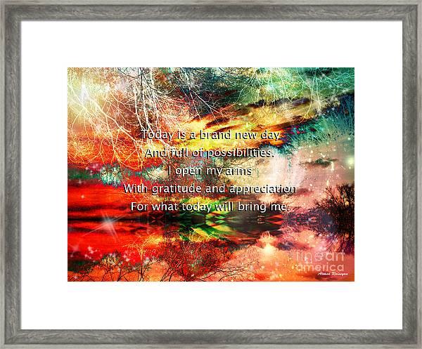 Framed Print featuring the digital art Gratitude by Atousa Raissyan
