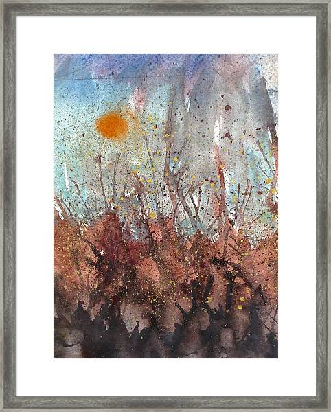 Joan Of Arc Mob And Fire Framed Print by Thomas Armstrong