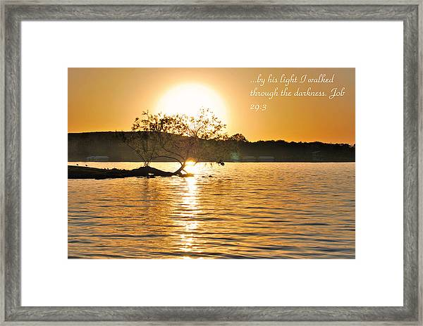 Job Twenty Nine  Three Framed Print by Teresa Blanton
