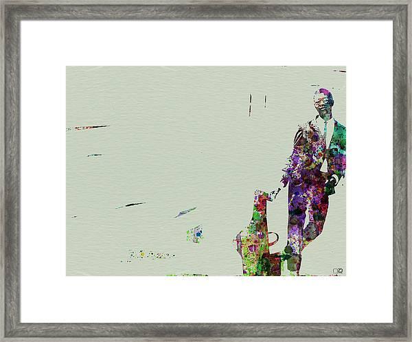 Joe Henderson Watercolor 2 Framed Print