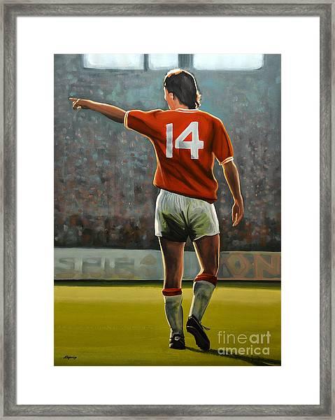 Johan Cruyff Oranje Nr 14 Framed Print