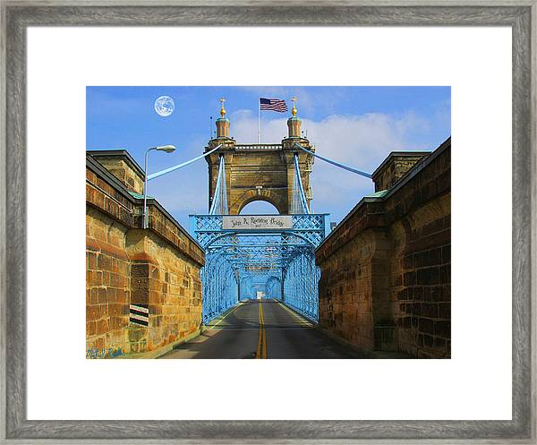John A. Roebling Suspension Bridge Framed Print