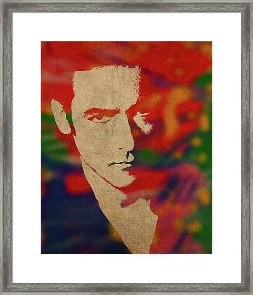 John Cusack Watercolor Portrait Framed Print