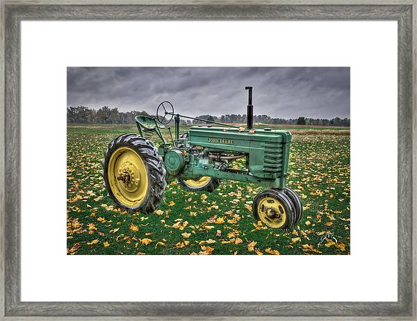 Framed Print featuring the photograph John Deere 2 by Williams-Cairns Photography LLC