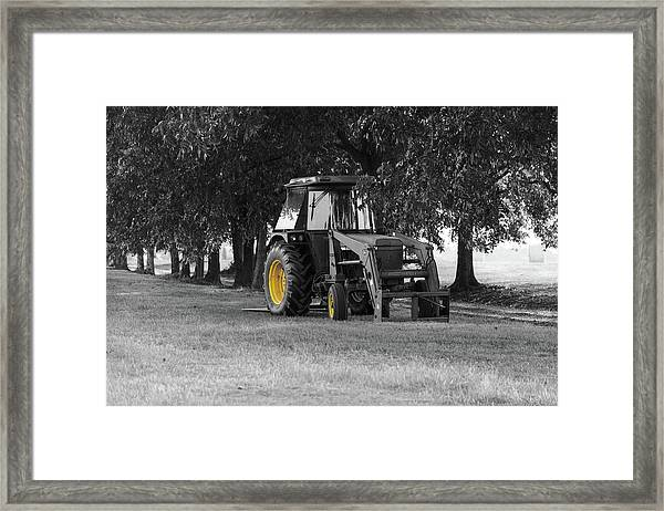 John Deere 620 In Selective Color Framed Print