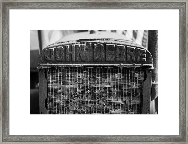 John Deere In Monochrome Framed Print