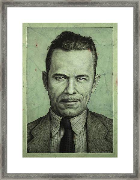 Framed Print featuring the painting John Dillinger by James W Johnson