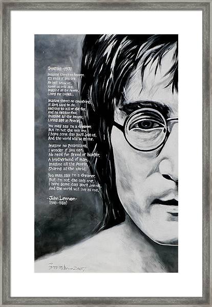 John Lennon - Imagine Framed Print