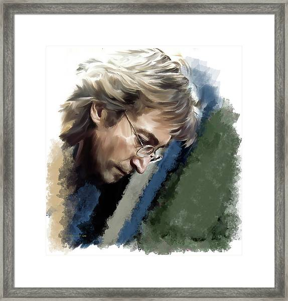 John Lennon Caring To Know Framed Print