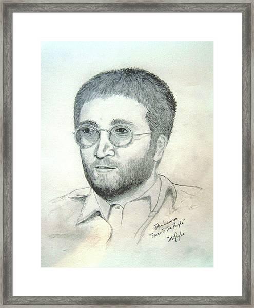 John Lennon Power To The People Framed Print