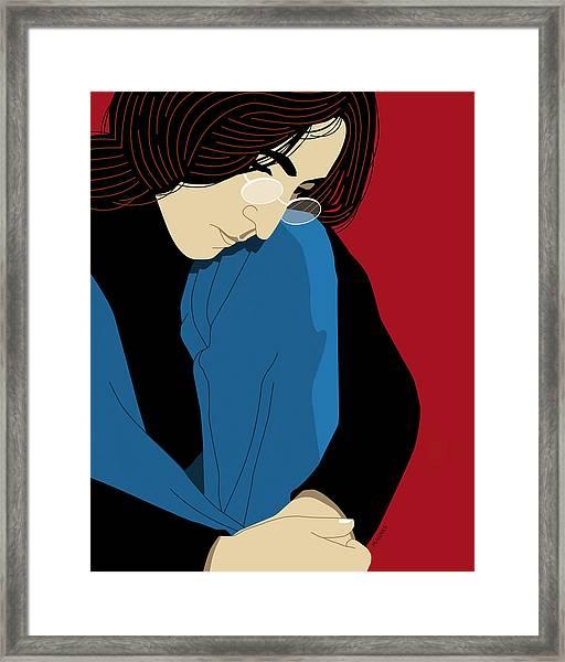 John Lennon Framed Print by Ron Magnes
