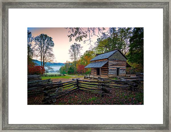 John Oliver Place In Cades Cove Framed Print